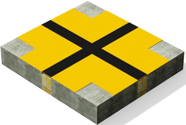 3D-rendering av hur Migupren tätduk för takläggare fungerar när den överlappar