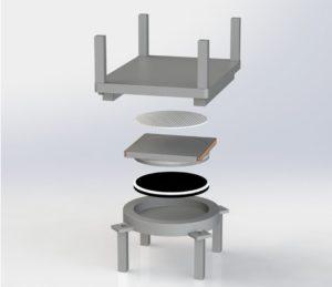 3d-rendering på brolager pot